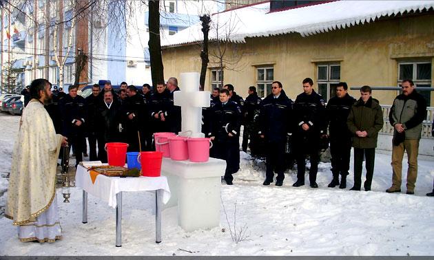 Sărbătoarea Bobotezei la Inspectoratul de Jandarmi Judeţean Suceava